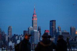 Empire State-byggingin er meðal helstu kennileita New York-borgar.