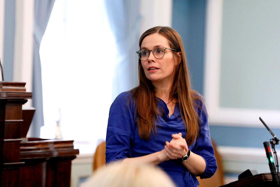 Katrín Jakobsdóttir forsætisráðherra á Alþingi.