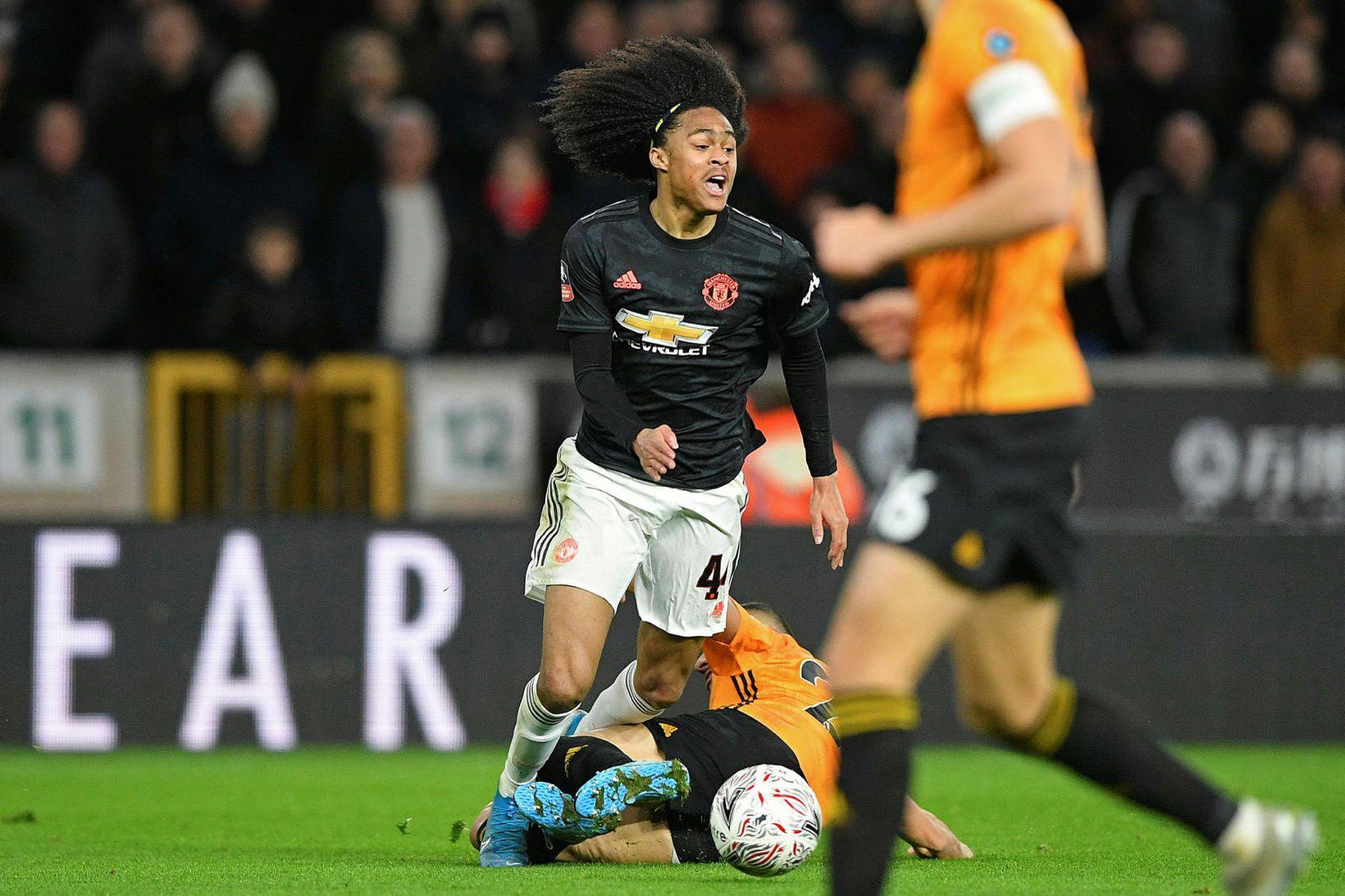 Tahith Chong í leik með Manchester United.