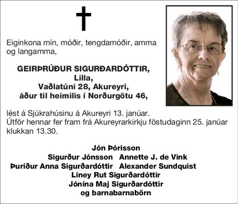 Geirþrúður Sigurðardóttir,