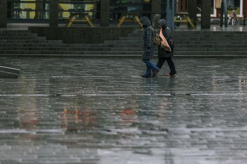 It's raining in most parts of Iceland today.