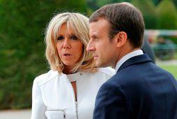 Emmanuel Macron og Brigitte Macron.
