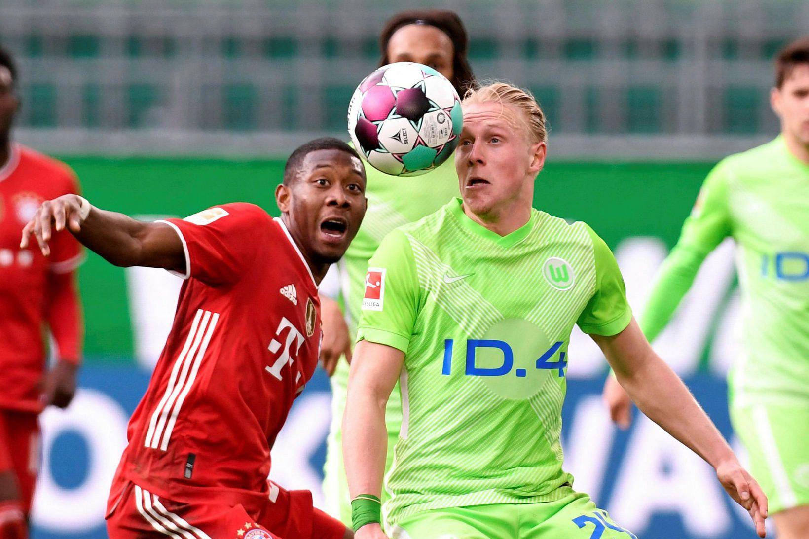 David Alaba í leik gegn Wolfsburg.