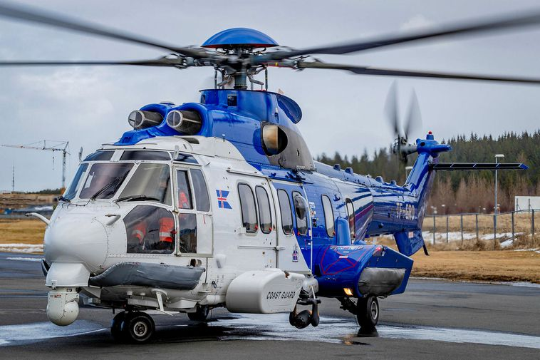 Archive photo. Helicopter from the Icelandic Coast Guard.