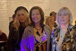 Anna Margrét Björnsson kynningarstjóri IceDocs, Eliza Reid forsetafrú og Ingibjörg Halldórsdóttir stofnandi IceDocs.