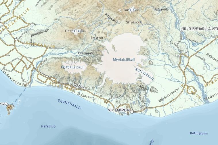 Sólheimajökull glacier in South Iceland