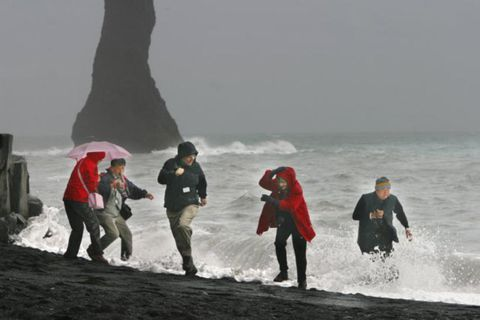 Tourists regularly put themselves in danger at Reynisfjara beach in South Iceland.