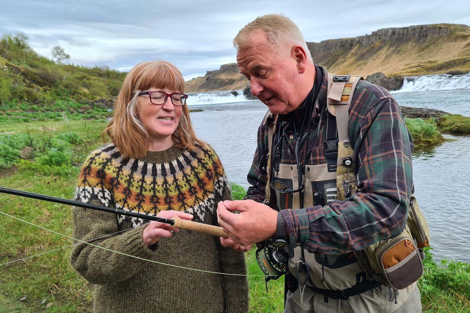 Vel fór á með Guðrúnu formanni Veiðifélagsins og Einari í …