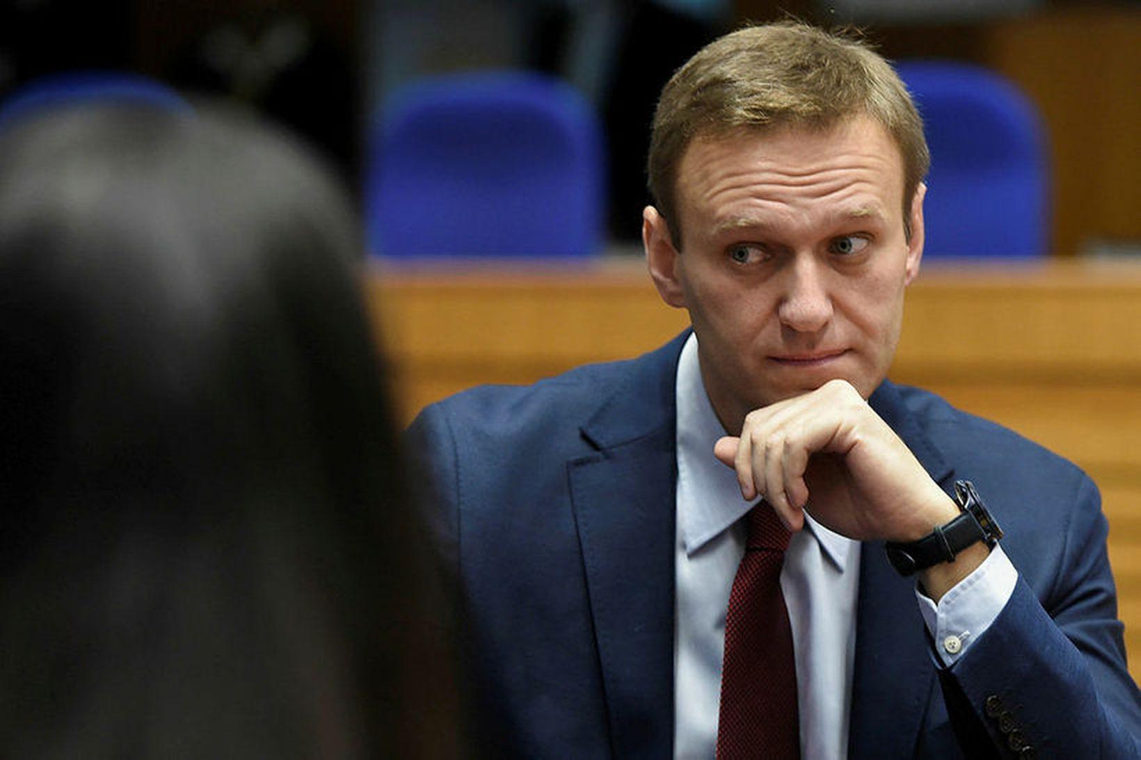 Alexei Navalny, leiðtogi rússnesku stjórnarandstöðunnar, í apríl síðastliðnum.