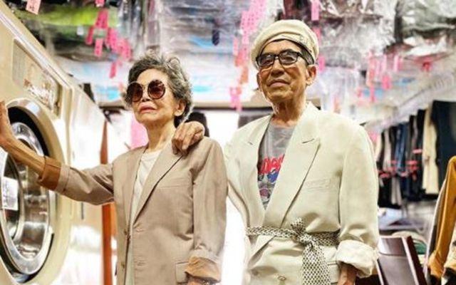 Hjónin Hsu Hsiu-e og Chang Wan-ji eru flott í fötum sem ekki voru sótt í …