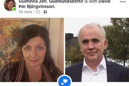 Guðfinna Jóhanna Guðmundsdóttir og Davíð Þór Björgvinsson eru nýtt par.