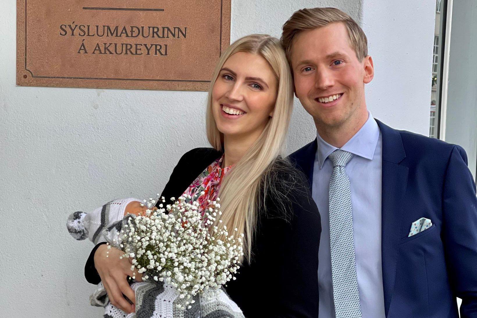 Anna Margrét og Daníel fæddust bæði á Fjórðungssjúkrahúsinu á Akureyri …