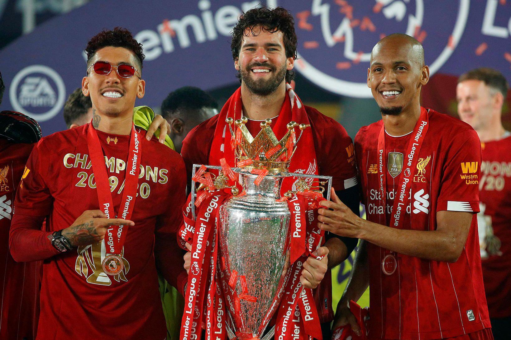 Brasilíumennirnir Roberto Firmino, Alisson Becker og Fabinho hjá Liverpool fá …