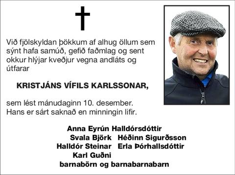 Kristjáns Vífils Karlssonar,