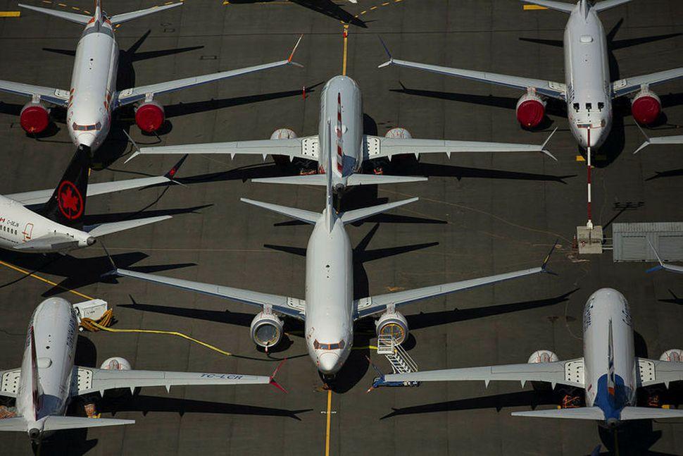 Kyrrsettar Boeing 737 MAX farþegaþotur í nágrenni höfuðstöðva Boeing í ...