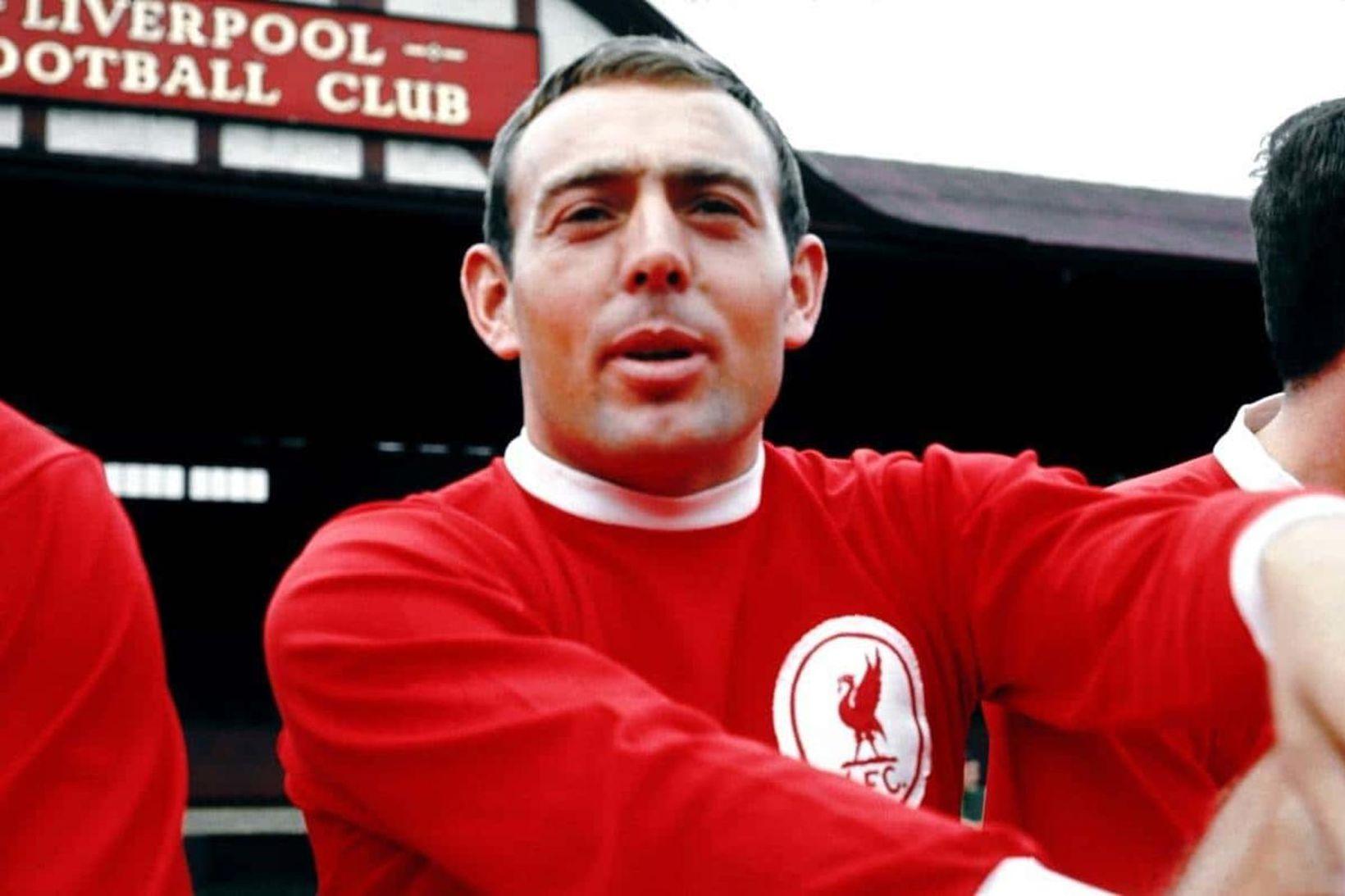 Ian St. John lék í áratug með Liverpool.
