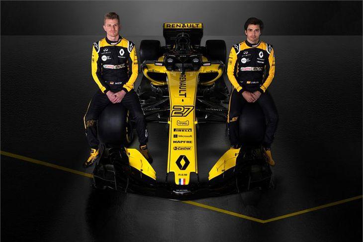Nico Hülkenberg (t.v.) og Carlos Sainz verða ökumenn Renault í ár.
