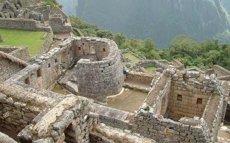Musteri sólarinnar (e. Temple of the Sun) er í Machu ...