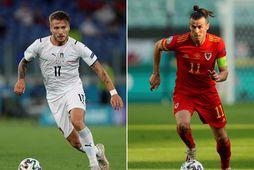 Ciro Immobile og Gareth Bale mætast í dag þegar Ítalía og Wales leika um sigurinn …