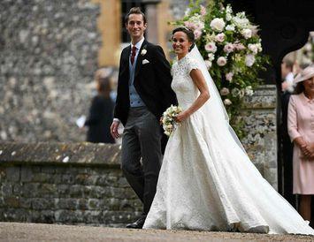 Pippa Middleton og James Matthews eru nú hjón.