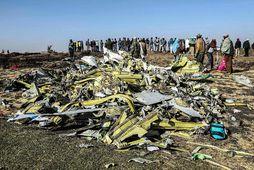 Brak úr þotu Ethiopian Airlines. Mynd úr safni.