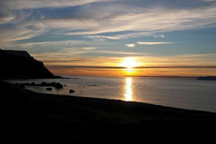 Frá Arnarnesinu milli Súðavíkur og Ísafjarðar.