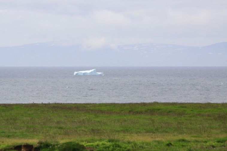 The iceberg, seen from Skagaströnd coast.
