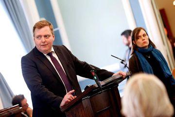Sigmundur Davíð Gunnlaugsson, MP for the Progressive Party.