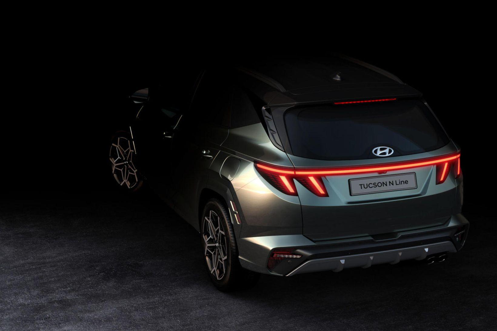 Hyundai Tucson N Line er óneitanlega nokkuð sportlegur.