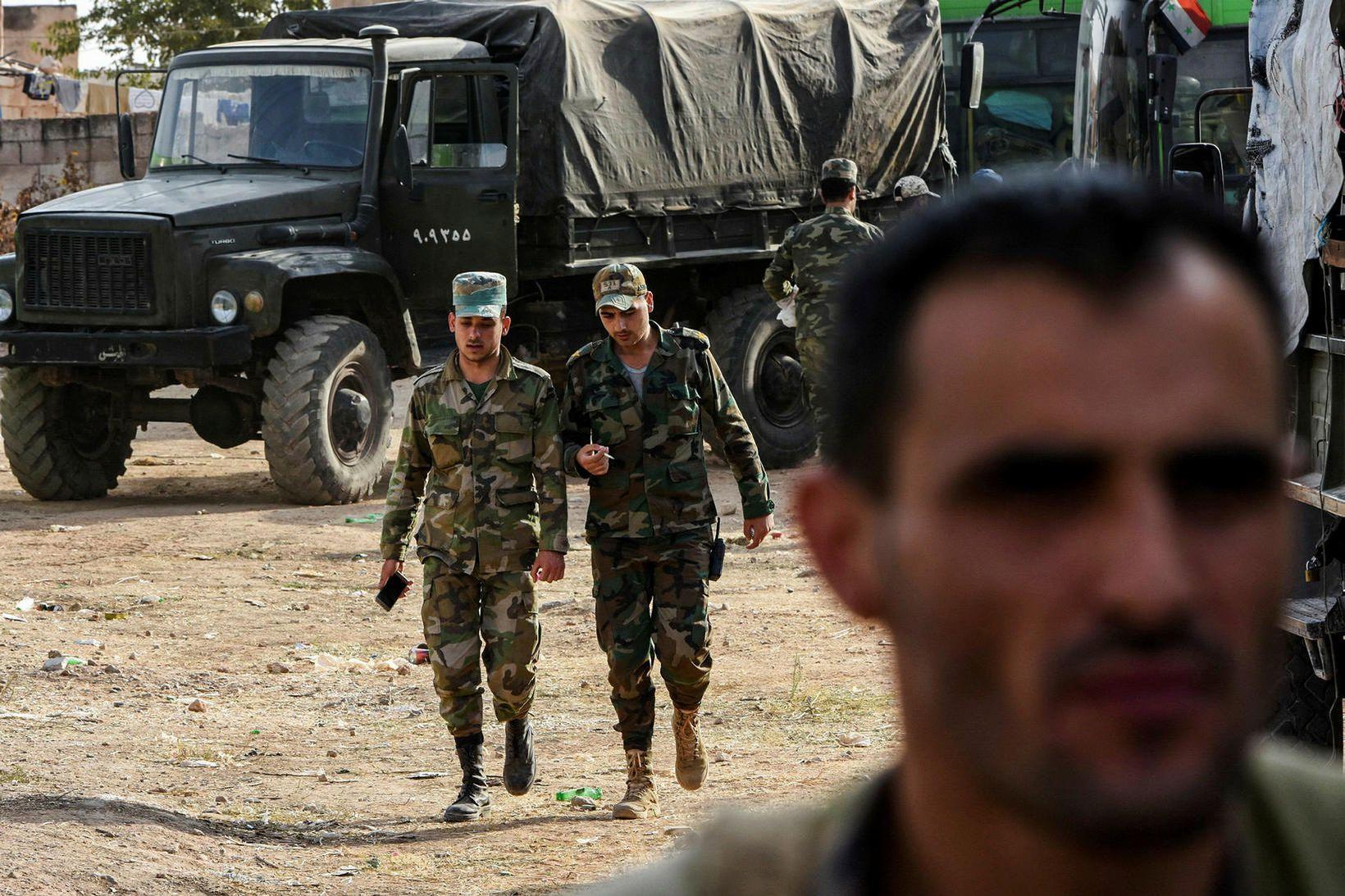 Stjórnarher al-Assad Sýrlandsforseta hefur m.a. komið sér fyrir í borginni …