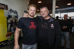 Feðgarnir Gunnar Nelson og Haraldur Dean Nelson.