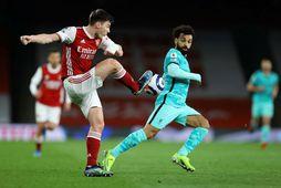Arsenal og Liverpool eru tvö af félögunum tólf sem standa að ofurdeildinni.