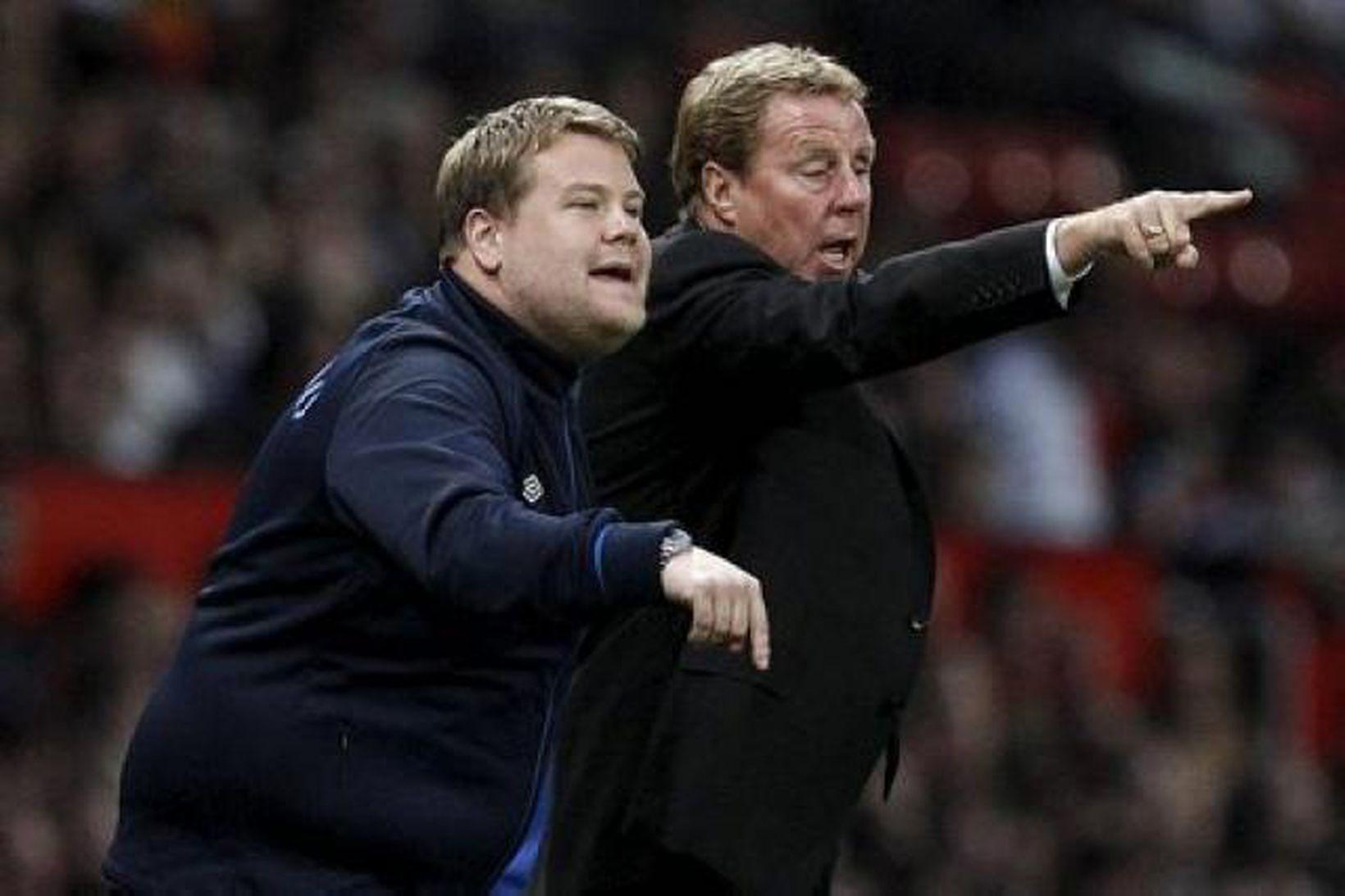 Harry Redknapp og Kevin Bond í leik með Tottenham.