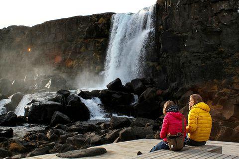 Mjög hefur dregið úr komum gesta í þjóðgarðinn á Þingvöllum.