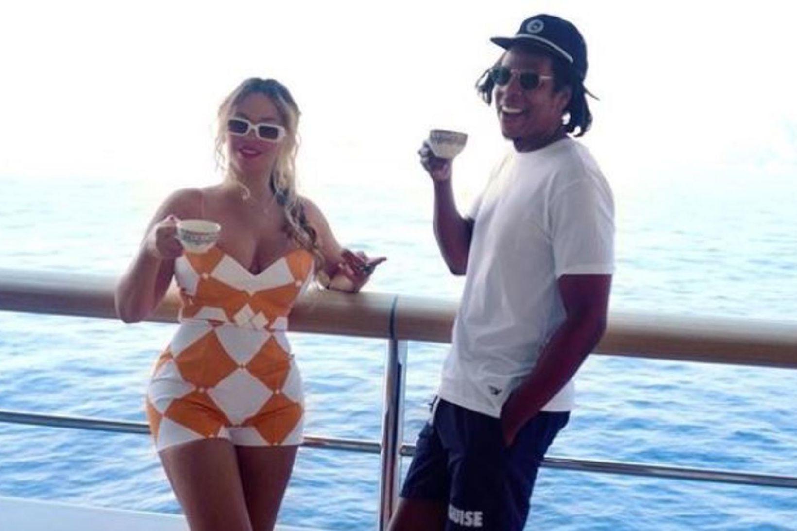 Beyoncé og Jay-Z eru í fríi í Evrópu.