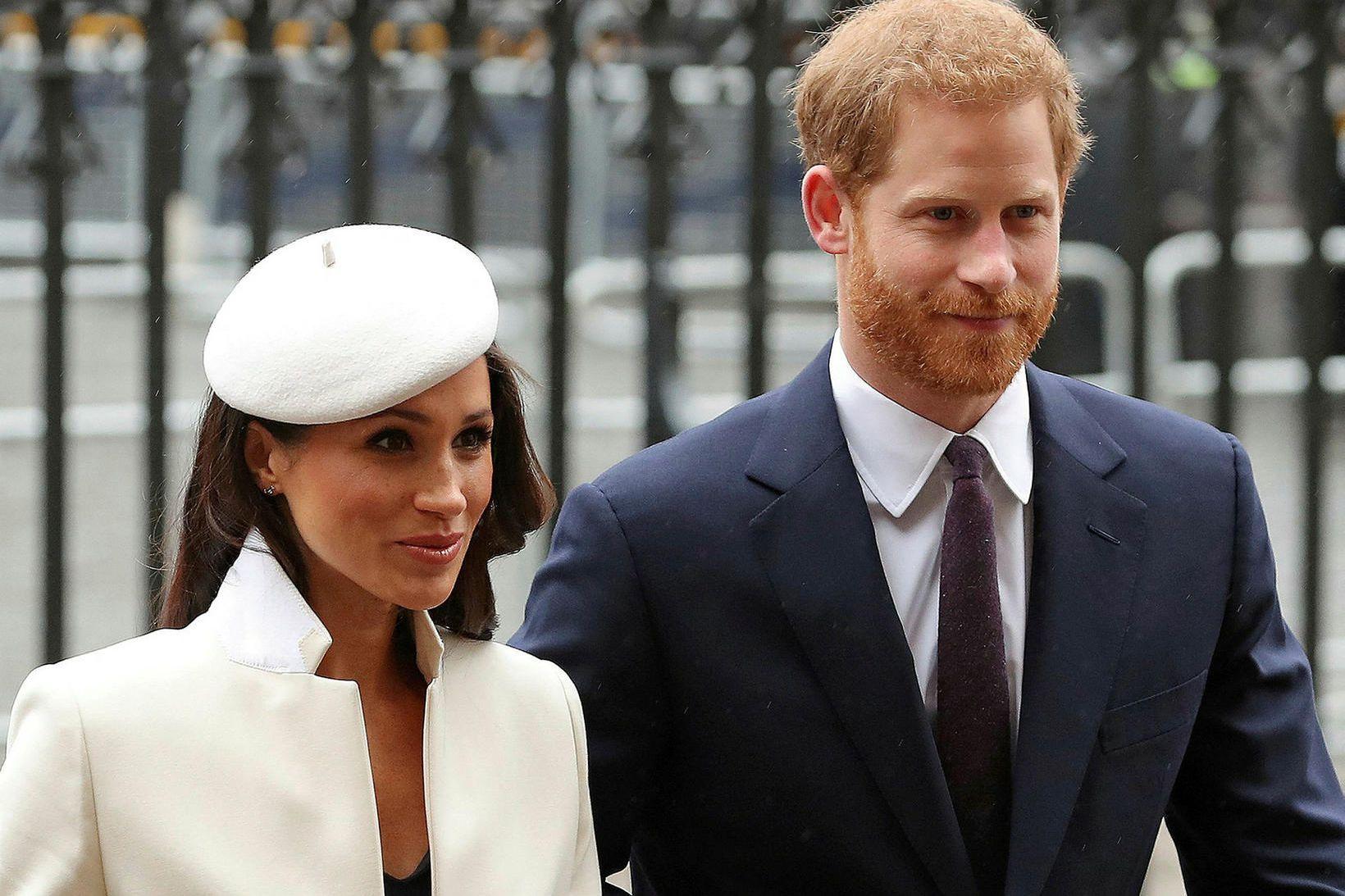 Meghan hertogaynja og Harry eiginmaður hennar.