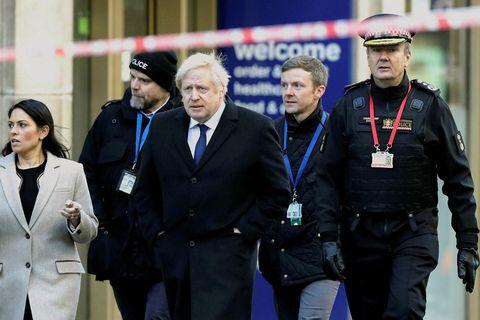 Johnson á vettvangi árásarinnar.