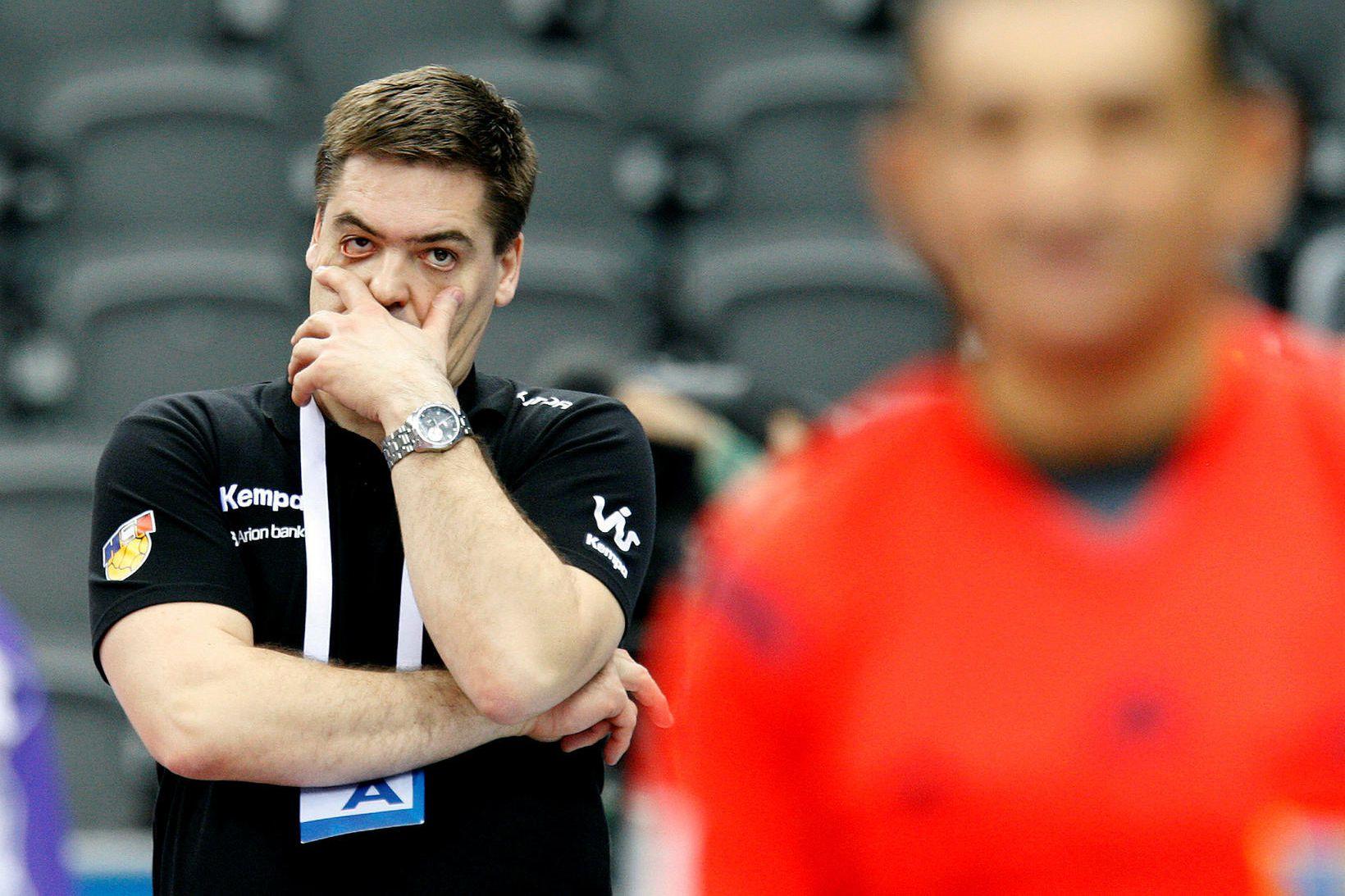 Aron Kristjánsson hefur átt góðu gengi að fagna sem þjálfari …
