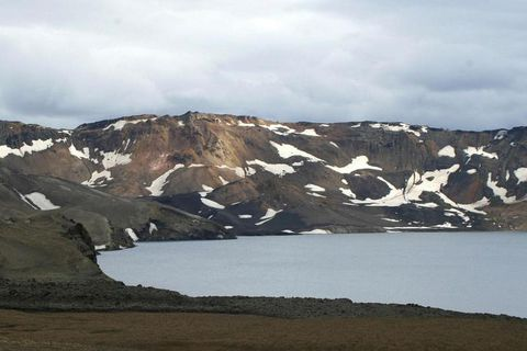 The body was found on a challenging track to the north of Askja.