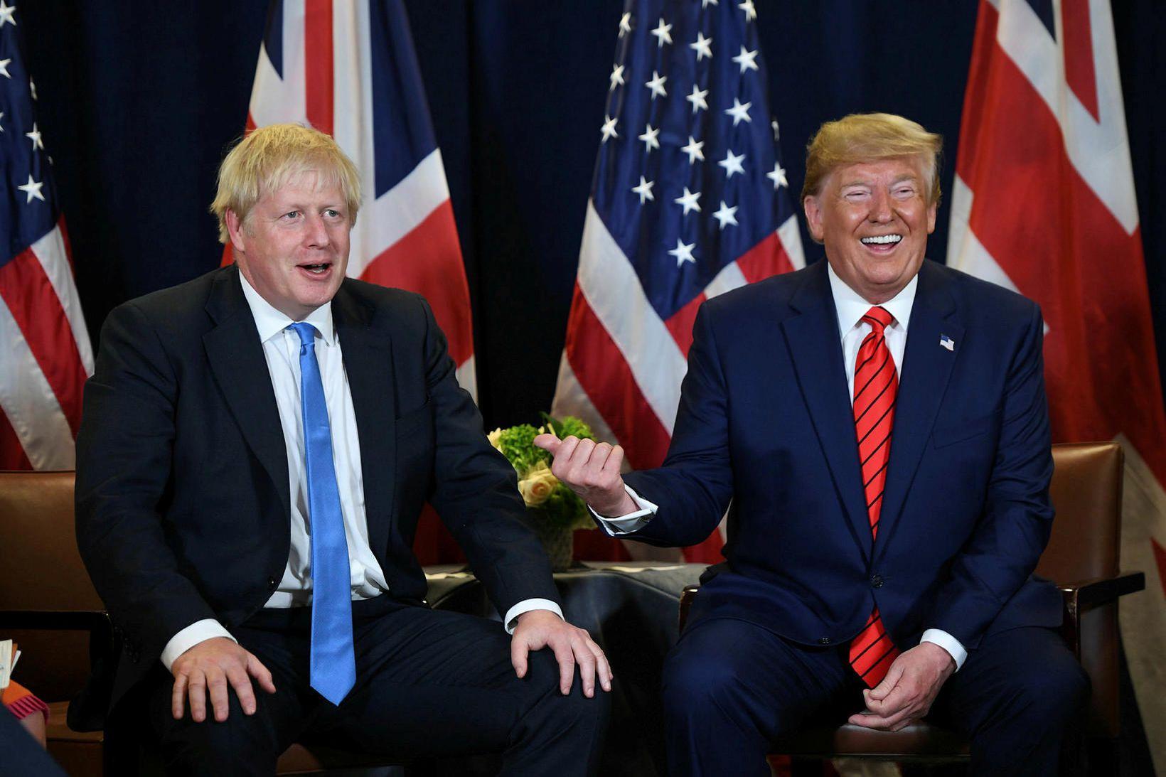 Þeim Boris Johnson forsætisráðherra Bretlands og Donald Trump Bandaríkaforseta er …