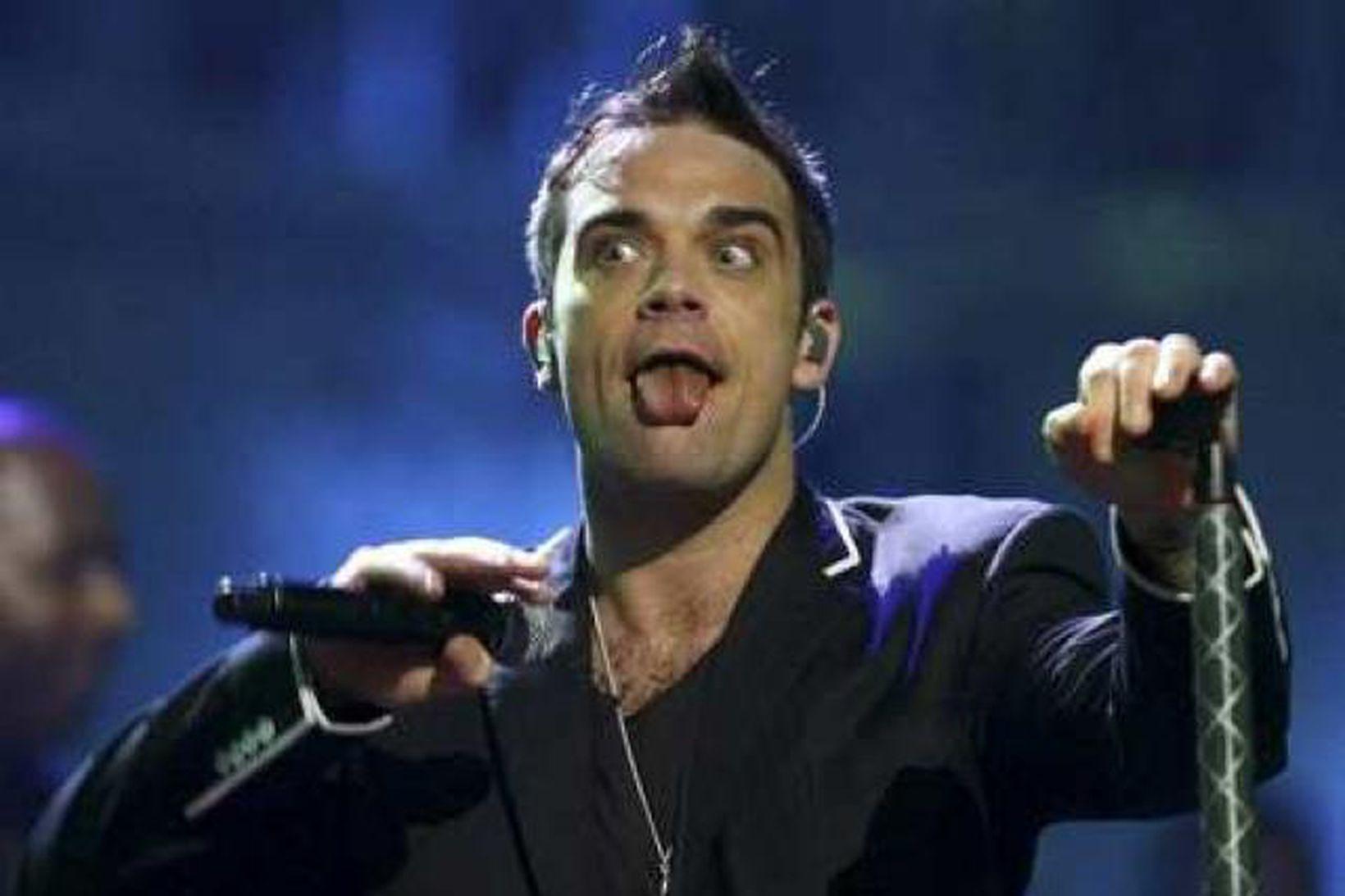 Robbie Williams var snoðaður í beinni