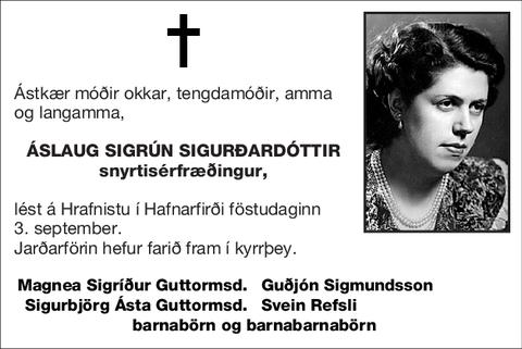 Áslaug Sigrún Sigurðardóttir