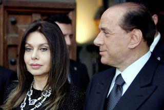 Silvio Berlusconi og Veronica Lario á meðan allt lék í lyndi.
