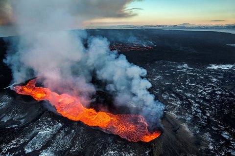 The Holuhraun eruption lasted from August 31, 2014, till February 27, 2015.