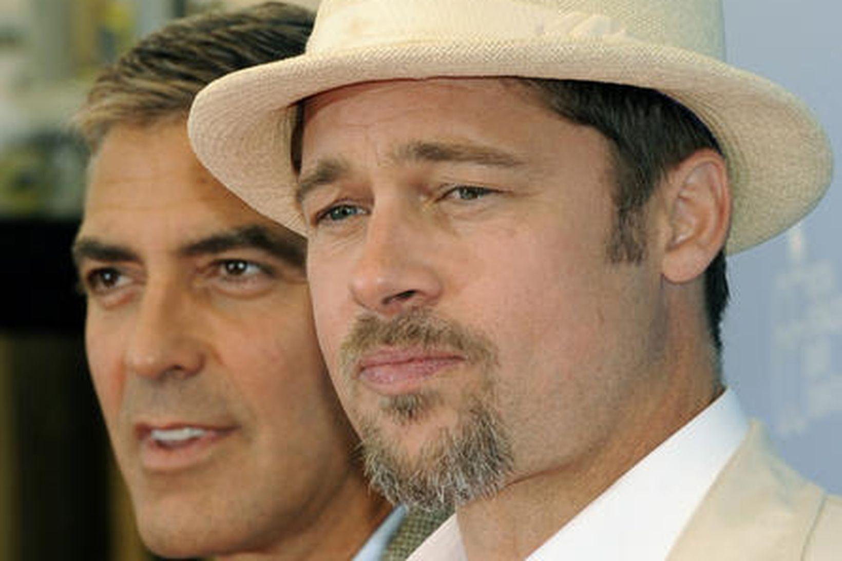 Brad Pitt og George Clooney eru góðir vinir.