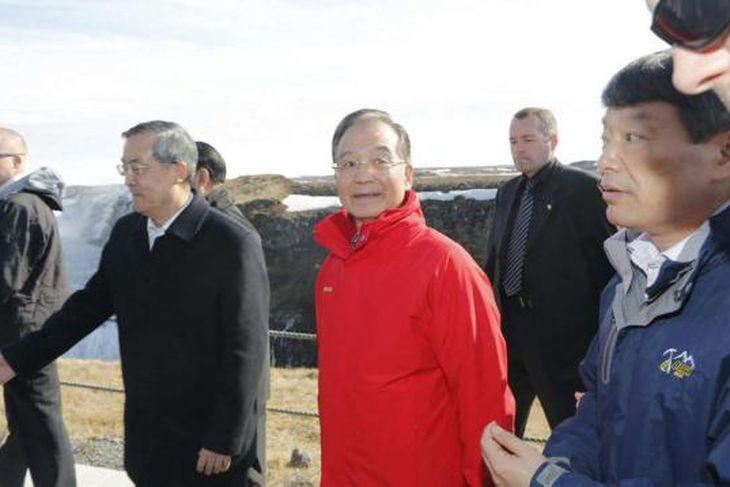 Frá heimsókn Wen Jiabao, forsætisráðherra Kína