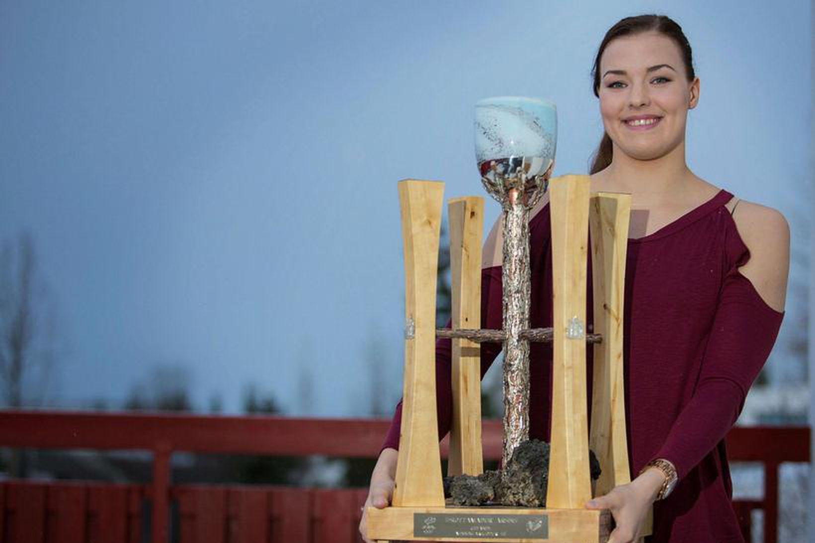 Eygló Ósk Gústafsdóttir var kjörin íþróttamaður ársins 2015.