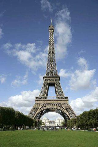 Eiffel turninn í París.