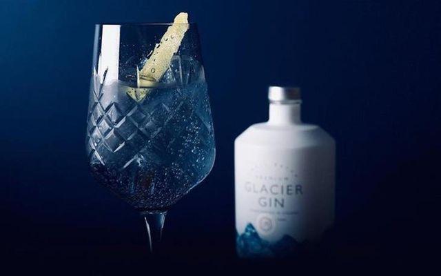 Glacier gin var að kynna nýtt léttgin á markað. Og hér má sjá ískaldan gindrykk …