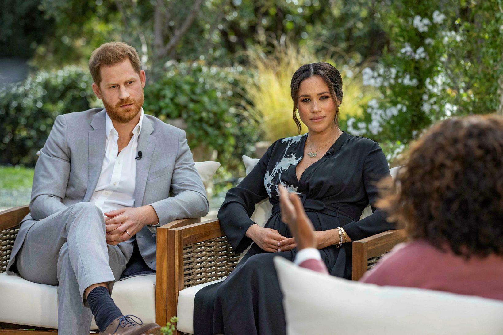Harry og Meghan veittu Oprah Winfrey viðtal, sem vakið hefur …